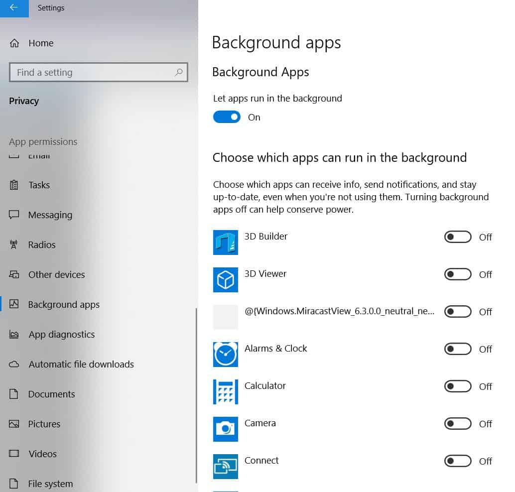 How to Stop Background Apps In Windows 10